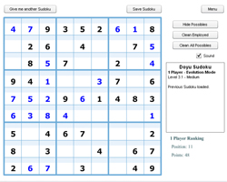 Online One player Sudoku